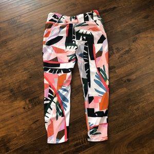 Betsey Johnson Multi Colored Capri Leggings